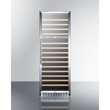 2-zone 160 Bottle Wine Cellar With Glass Door, Digital Thermostat, and Stainless Steel Wrapped Cabinet