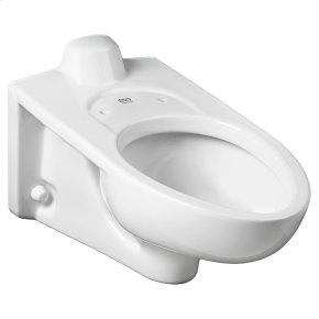 Afwall Millennium 1.1-1.6 gpf Back Spud Elongated Toilet Bowl  American Standard - White