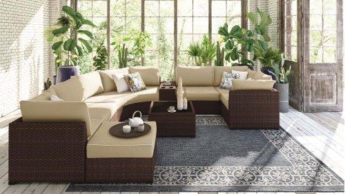 Spring Ridge - Beige/Brown 3 Piece Patio Set