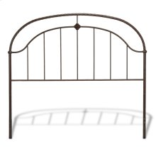 Cascade Headboard with Metal Panel and Twisted-Rope Rail, Ancient Gold Finish, California King