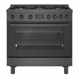 Bosch800 Series Dual Fuel Freestanding Range 36'' Black Stainless Steel HDS8645U