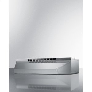 Summit30 Inch Wide ADA Compliant Ductless Range Hood In Stainless Steel With Remote Wall Switch