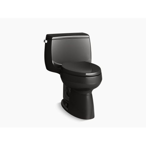 Black Black Comfort Height One-piece Elongated 1.28 Gpf Toilet With Class Five Flushing Technology and Left-hand Trip Lever