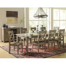 Outer Banks Rect. Dining Table With Eight Chairs - Driftwood