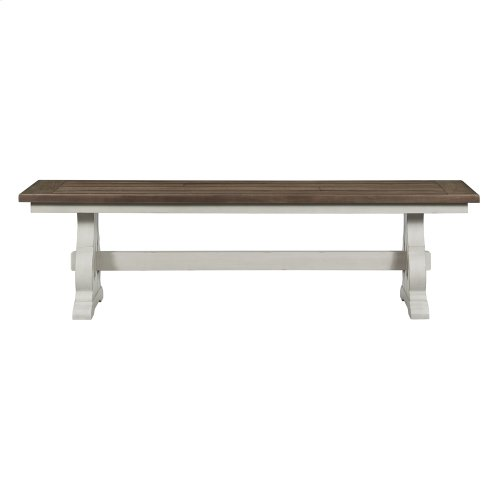 Dining Bench, Backless w/Wood Seat