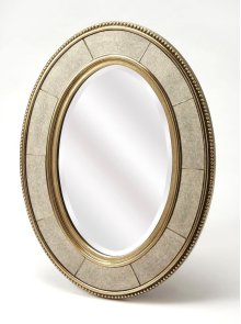 An elegant but understated reflection on contemporary style, the Champange wall mirror will enlighten any interior it inhabits. Beveled edge mirror framed by mirrored inserts brings an understated elegance, set it above your entryway console table for a