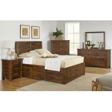 Sonoma Creek 5 Piece Queen Bedroom Set: Bed, Dresser, Mirror, Chest, Nightstand