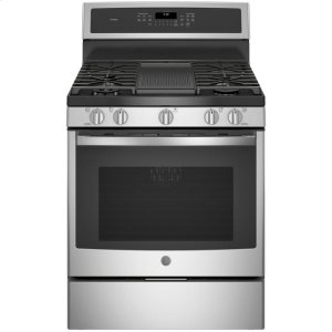 "GE ProfileGE PROFILEGE Profile(TM) 30"" Free-Standing Gas Convection Range"