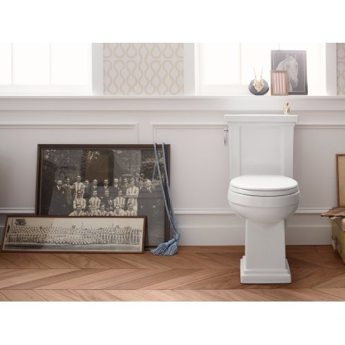 White Quick-release With Grip-tight Bumpers Elongated Toilet Seat