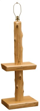 Cedar Floor Lamp with Shelf - Traditional Cedar - without Lamp Shade Product Image