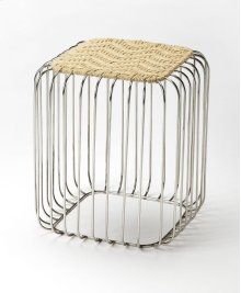 This stool brings some stylish versatility to your living space. Perfectly sized for duty as a stool or an ottoman and ready to switch gears at a moments notice. It sits nice and firm for excellent support yet offers a touch of comfort with a natural jute