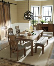 Flaybern Butterfly Table, 4 Chairs, Bench Product Image