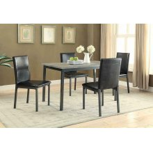 Garza Black Upholstered Side Chair
