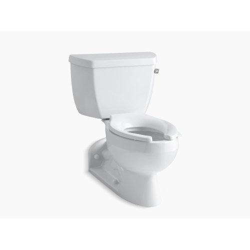 White Two-piece Elongated 1.0 Gpm Toilet With Pressure Lite Flushing Technology and Right-hand Trip Lever