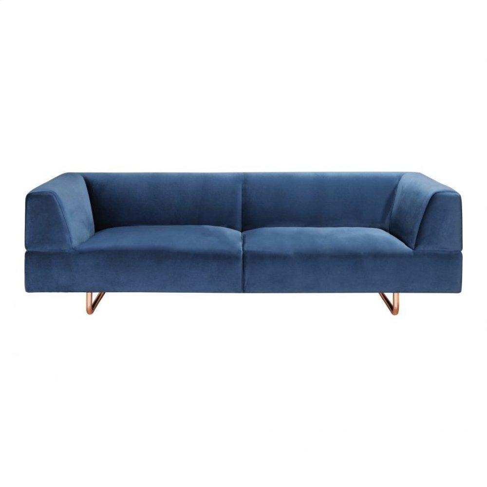 Langdon Sofa Blue Velvet