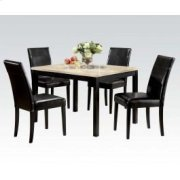 5pc Pk Dining W/wh Faux Marble Product Image