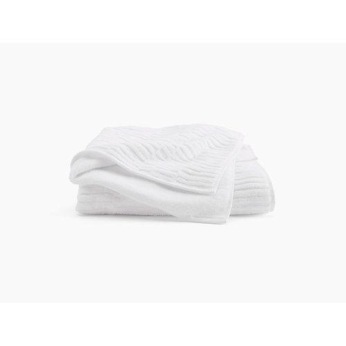 "White Bath Sheet With Tatami Weave, 35"" X 70"""