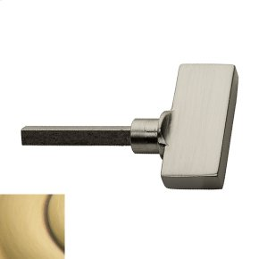Satin Brass and Brown TK006 Turn Knob