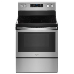 5.3 cu. ft. Freestanding Electric Range with Frozen Bake Technology - BLACK-ON-STAINLESS