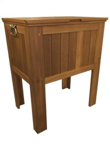 56QT. SLATTED WOODEN COOLER