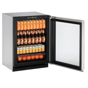 "U-Line24"" Refrigerator With Stainless Frame Finish (115 V/60 Hz Volts /60 Hz Hz)"