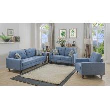 Kourtney Blue Sofa