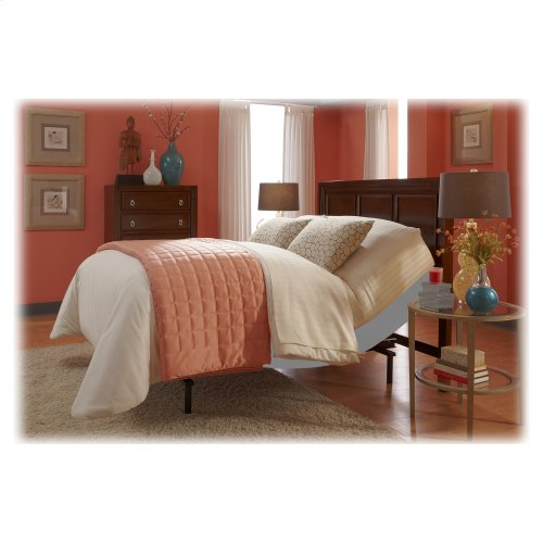 Signature Adjustable Bed Base with Ultra-Quiet Motor and Wireless Remote, Gray Finish, Full XL