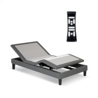 S-Cape 2.0 Adjustable Furniture-Style Bed Base with Wooden Legs and Wallhugger Technology, Charcoal Gray Finish, Full XL Product Image