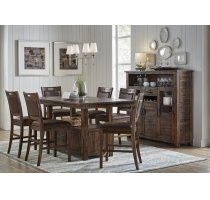 Cannon Valley Counter Height Storage Table With Six Stools Product Image