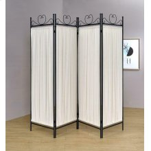 Traditional Black and Gold Four-panel Folding Screen