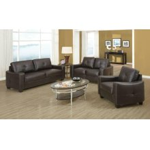 Jasmine Casual Brown Three-piece Living Room Set
