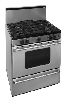 30 in. ProSeries Freestanding Battery Spark Sealed Burner Gas Range in Stainless Steel