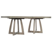 Dining Room Affinity 78in Rectangle Pedestal Dining Table w/2-18in Leaves