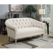 Traditional Natural Linen Settee