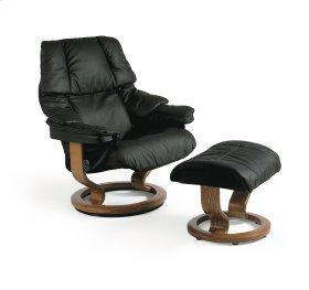 Stressless Reno Medium Classic Base Chair and Ottoman