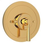 RohlEnglish Gold Perrin & Rowe Holborn Thermostatic Trim Plate Without Volume Control with Holborn Metal Lever