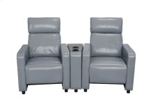 Arcadia Gray Push-Back 2-Piece Reclining Theater Set