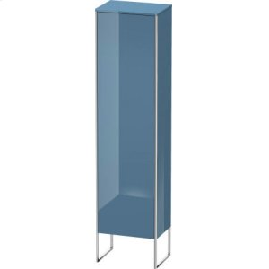 Tall Cabinet Floorstanding, Stone Blue High Gloss Lacquer