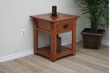 O-M258 Mission Oak 1-Drawer End Table