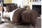 3 pc Queen Coverlet/Duvet Set Cocoa Product Image