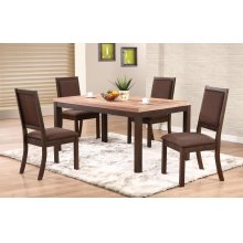 "66"" Leg Table w/ 4 Chairs"