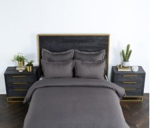 Harlow Charcoal King Duvet 108x94