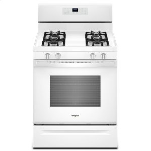 5.0 cu. ft. Freestanding Gas Range with Adjustable Self-Cleaning White - WHITE