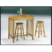 3PC BREAKFAST SET OAK/TER TILE Product Image