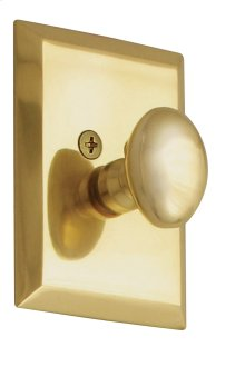 Nostalgic - Single Cylinder Deadbolt Keyed Differently - New York in Unlacquered Brass
