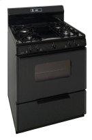 30 in. Freestanding Sealed Burner Spark Ignition Gas Range in Black Product Image