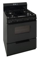 30 in. Freestanding Sealed Burner Spark Ignition Gas Range in Black Product Image
