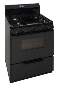 30 in. Freestanding Sealed Burner Spark Ignition Gas Range in Black