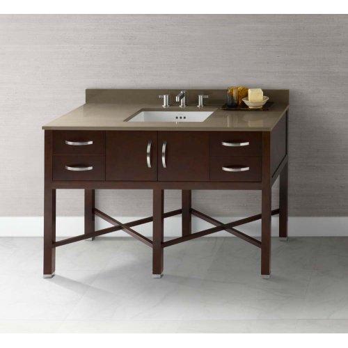 "Haley 48"" Bathroom Vanity Base Cabinet in Dark Cherry"