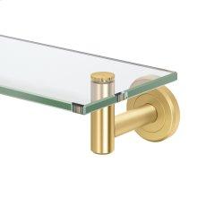 Latitude2 Glass Shelf in Brushed Brass